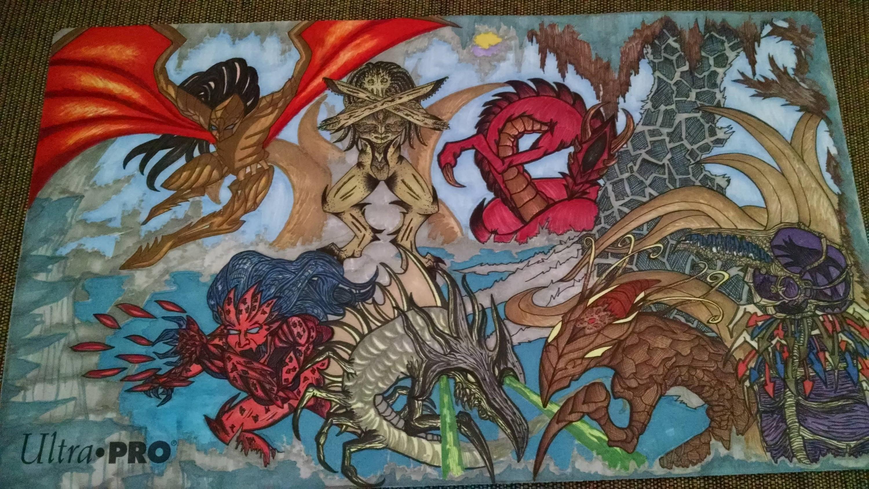 Official Custom Art Playmats Artwork Creativity Community Forums Mtg Salvation Forums Mtg Salvation