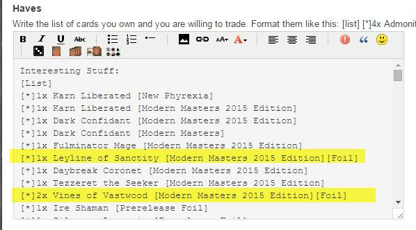 Modern Masters 2015 Foils Broken In Trading Post Forum