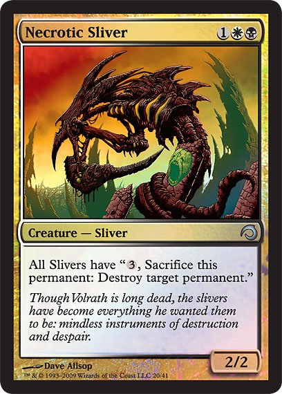 Slivers] Packaging and 5 cards - The Rumor Mill - Magic
