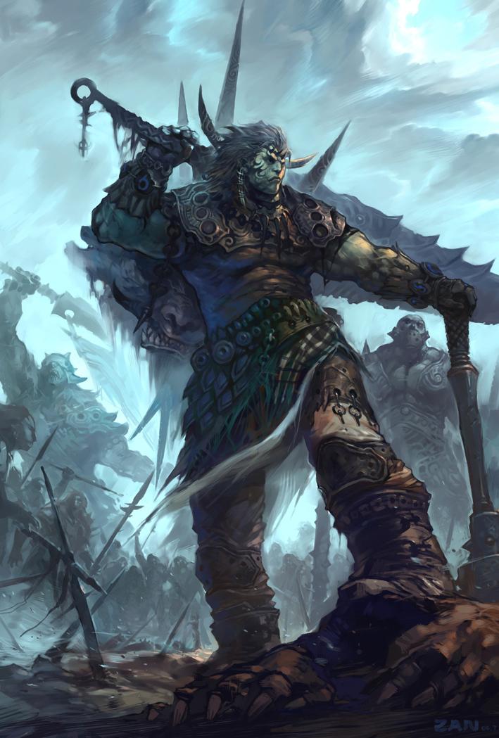Znalezione obrazy dla zapytania orc concept art artwork