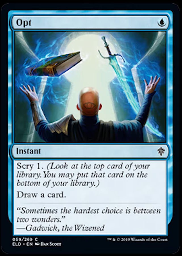 opt  instant  cards  mtg salvation